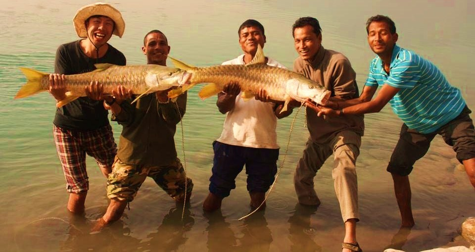 ''Fishing at Bardia National Park''
